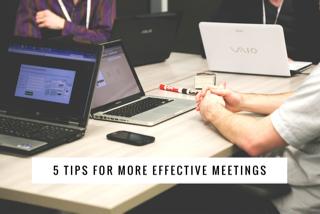 5 tips effective meetings