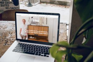 Online Presence - laptop with website on screen