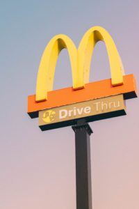 Branding - McDonalds highway sign