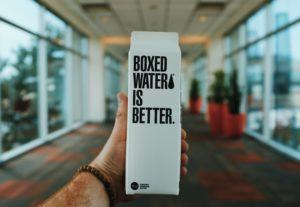 Branding - water in milk carton box